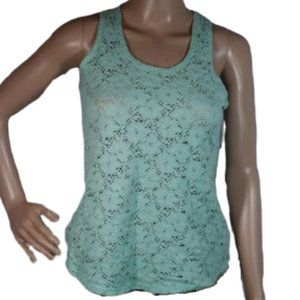 Maurices Green Lacy Racerback Tank Top